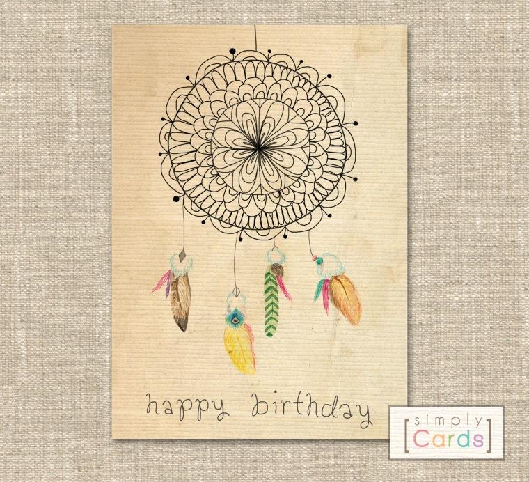 Dreamcatcher Birthday Card